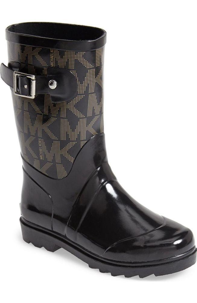 Daisy Black Waterproof Rain Boots