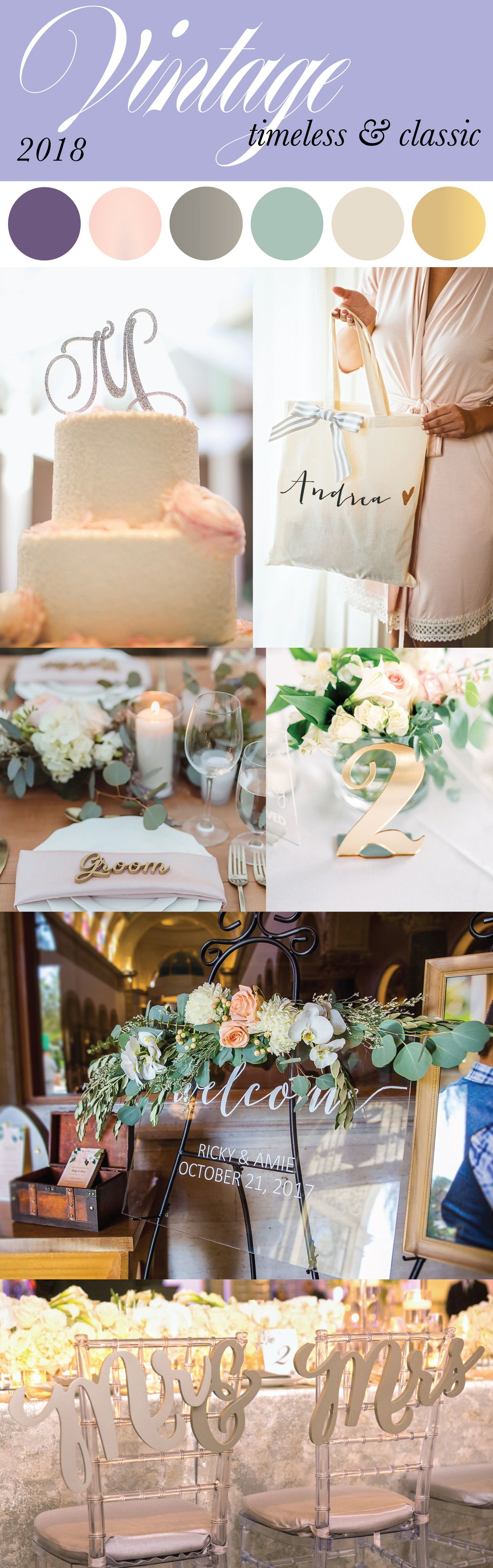 Wedding decorations reception october 2018 Modern Vintage Color Palette for  Weddings featuring Ultra