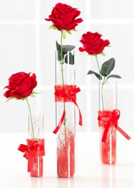 Ritzenhoff Breker Red Rose In 40cm Tall Acrylic Vase Artificial Rose Flower Ritzenhoffbreker Unique Flower Vases Rose Decor Acrylic Vase