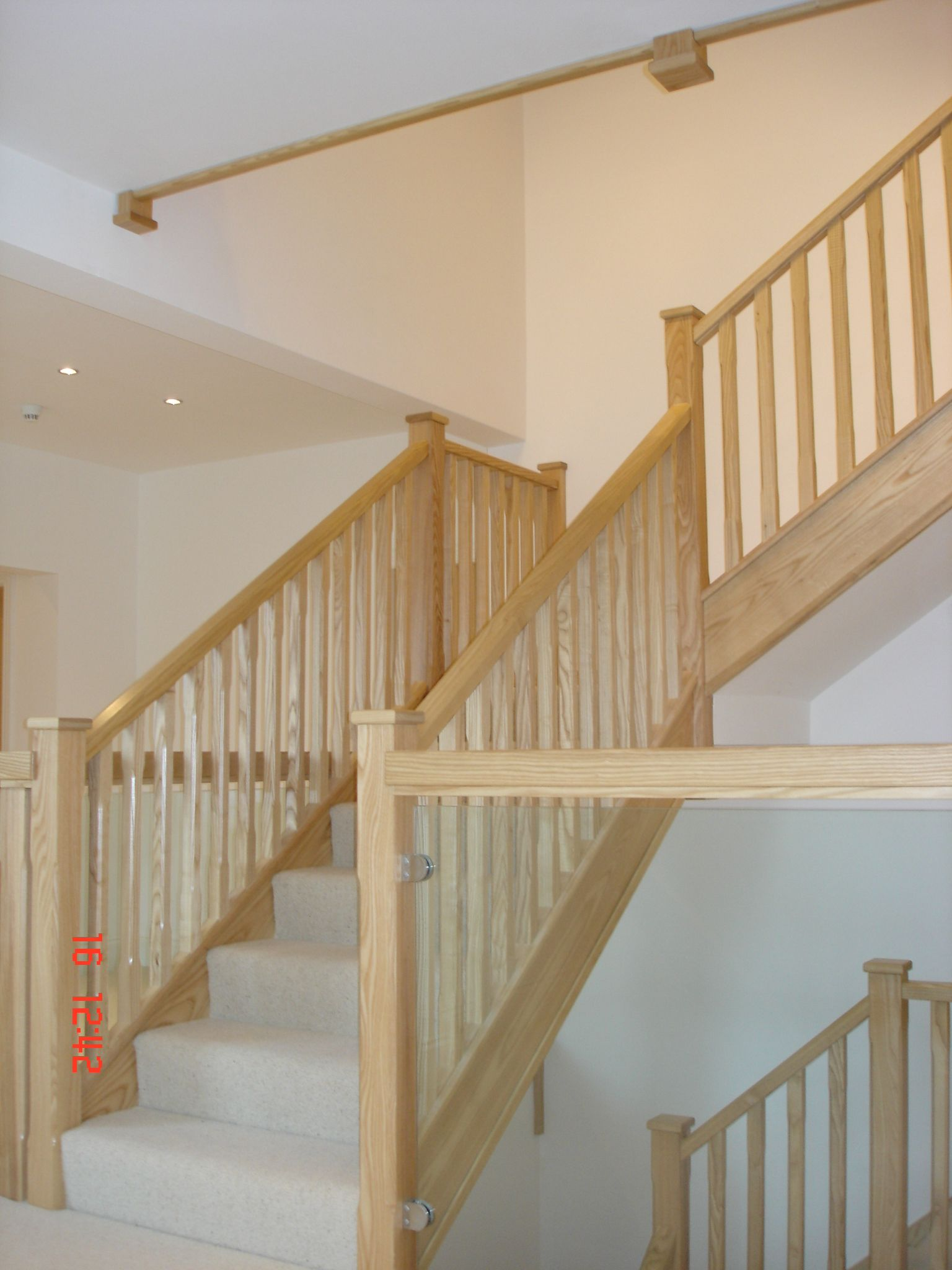 A mixture of modern and traditional staircase. B A HAXBY (BARNSLEY) LTD