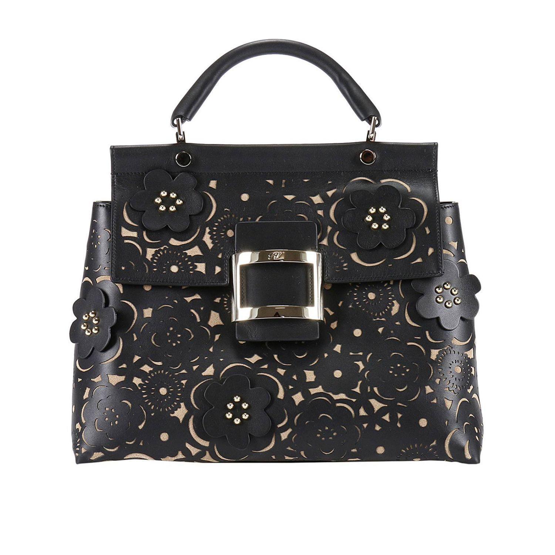 b84e71f8b812 Roger Vivier Handbag Viv  cabas Tango Skin Guipure Bag