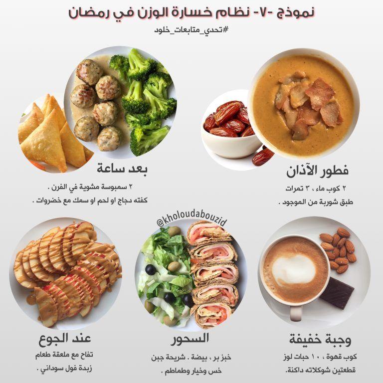 نظام صحي لخسارة الوزن في رمضان خلود ابوزيد Healthy Recipes Healty Diet Nutrition