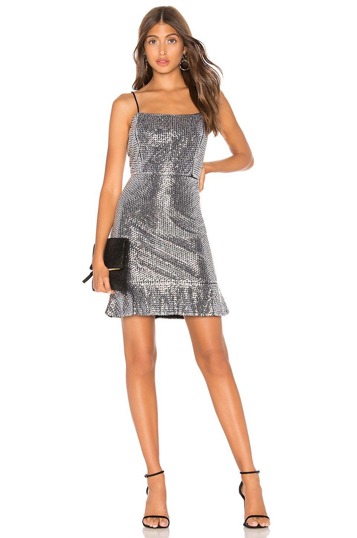 Endless Rose Sequin Mini Dress in Silver Mini dress