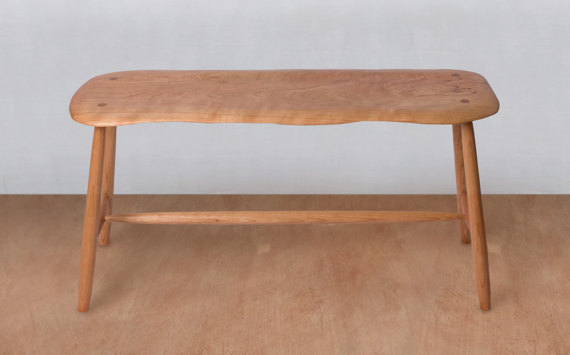 Incredible Mid Century Modern Bench Wooden Bench Entryway Bench Ocoug Best Dining Table And Chair Ideas Images Ocougorg