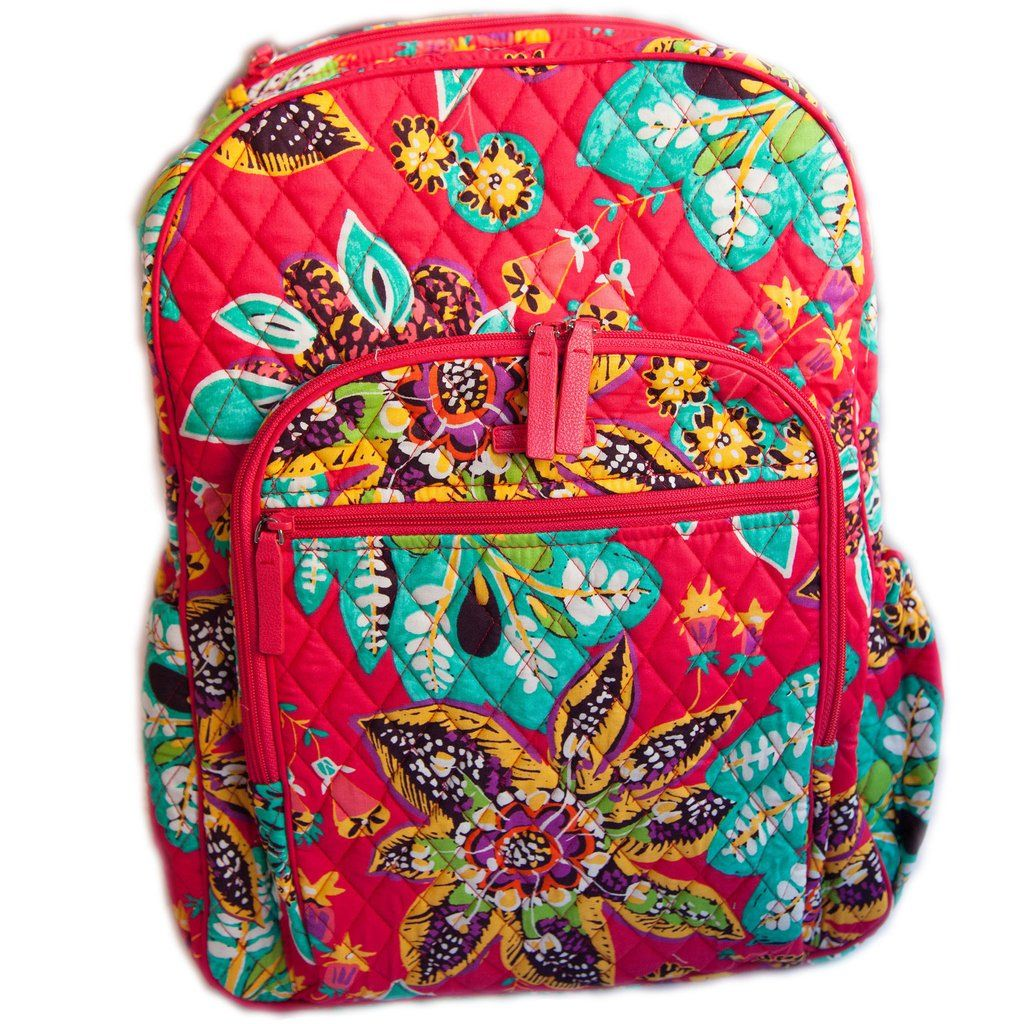 Vera Bradley Rumba Pattern Campus Tech Backpack  bd7c599819f6d