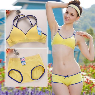 dfa20169a1 Running bra suit vest type thin model Young girl without rims puberty  students underwear bra cotton