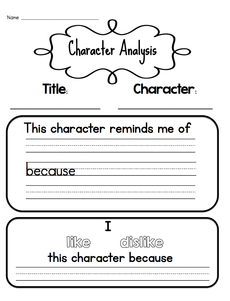 Teaching Character Analysis In The Primary Grades  Teaching