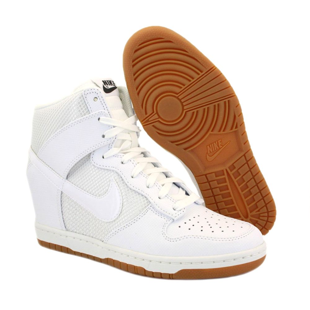 best service db511 69981 ... wholesale nike wedges for women about nike dunk sky hi mesh 579763 100  womens laced leather