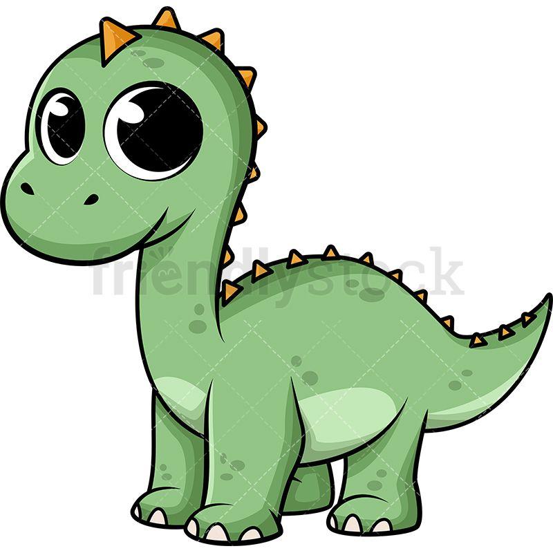 Cute Baby Dinosaur Cartoon Vector Clipart Friendlystock Cute Cartoon Pictures Cartoons Vector Baby Alligator