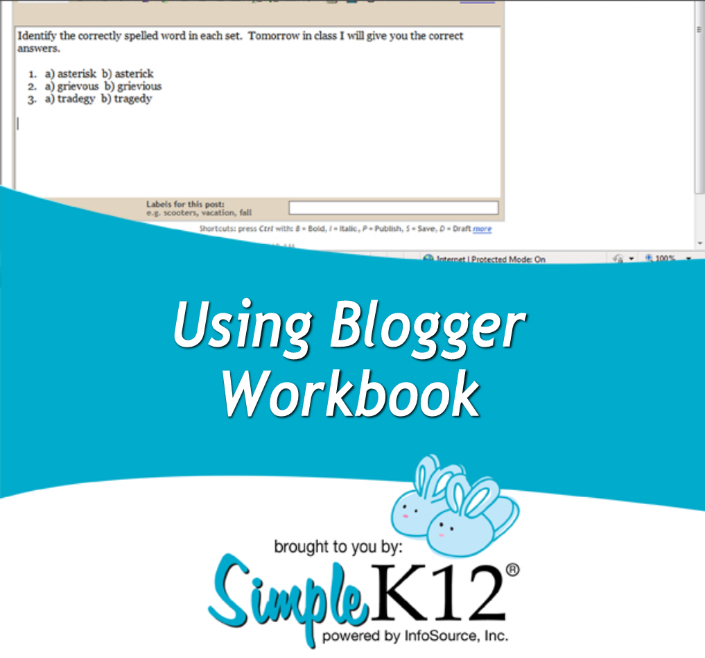 Using Blogger Workbook: This workbook is taken from one of ...