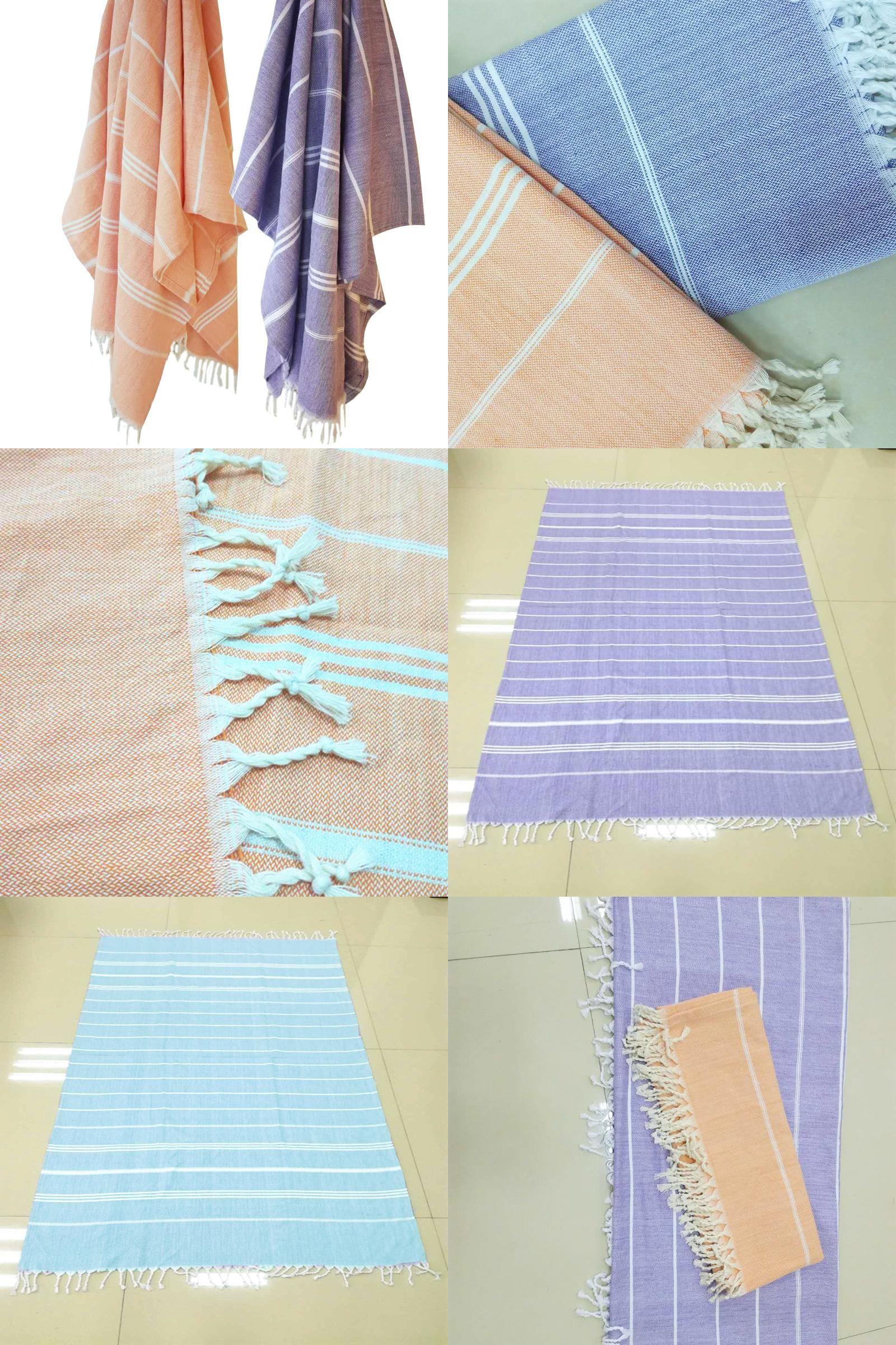 Visit To Buy Cotton Linen Beach Bath Towels Striped Beach Towel