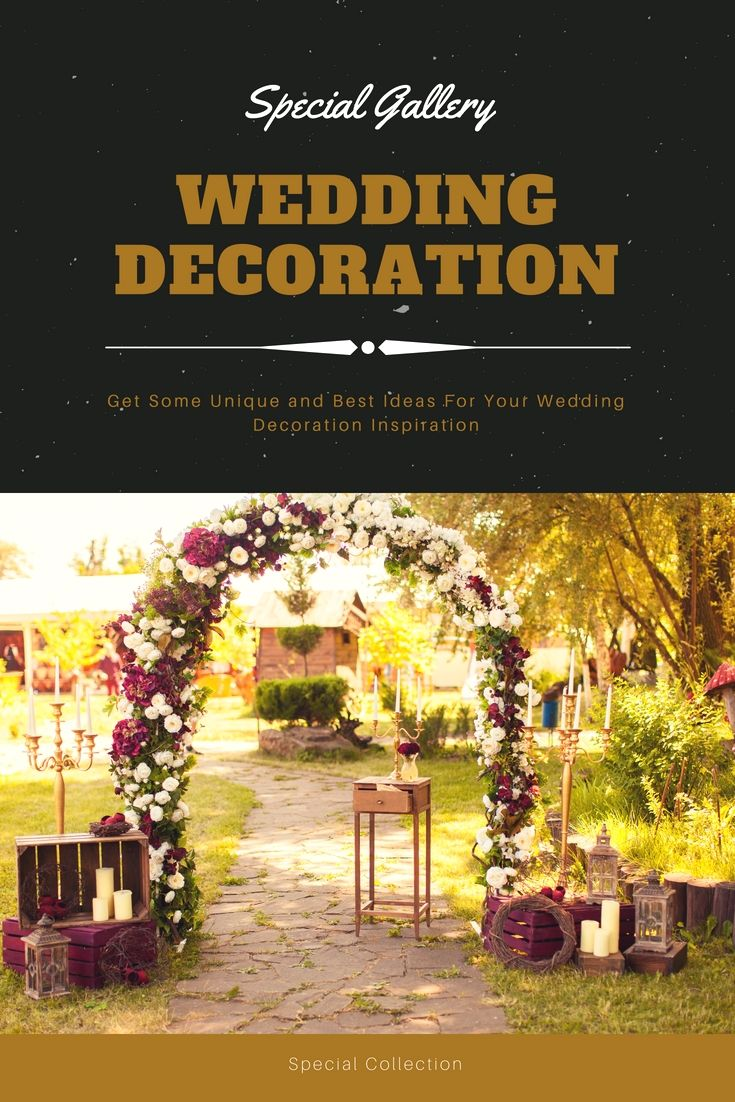 Latest wedding decoration images  Beautify Your Current Wedding Reception With The Help Of These