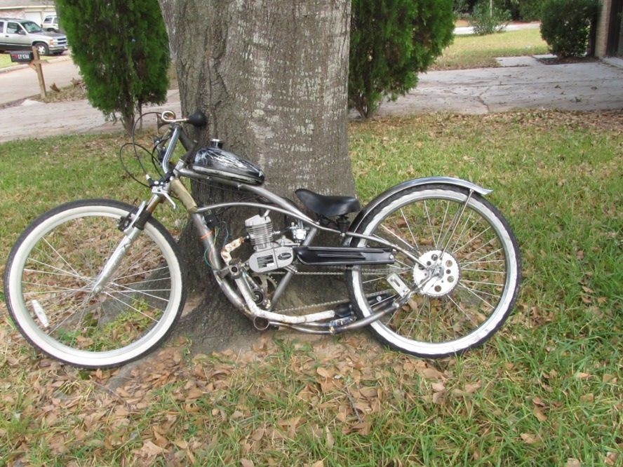 Ratty Bobber Build Motorized Bicycle Bicycle Engine Bicycle