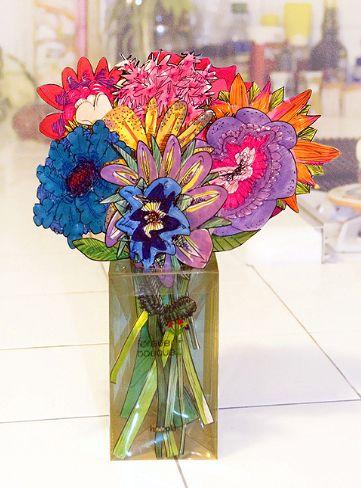 papieren bloemen voor Valentijnsdag