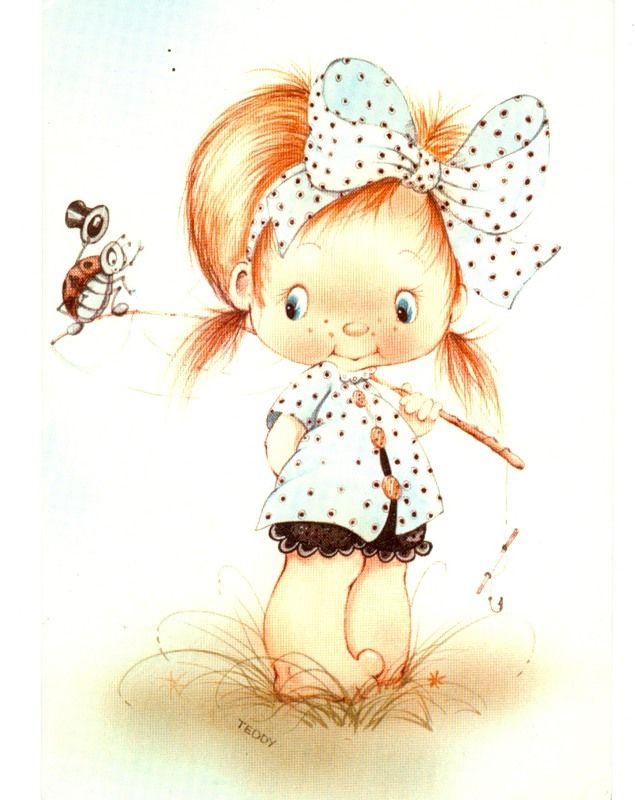Нарисованные картинки детей прикольные девочки
