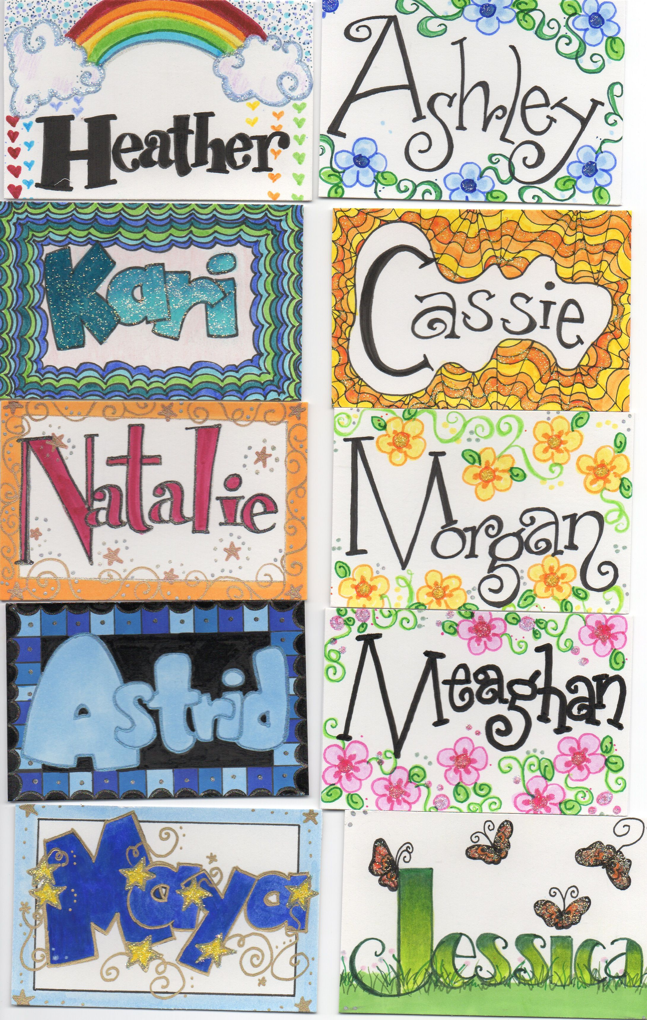 name tags i drew for kids i work with 2 dawn alice rogers my drawings pinterest school