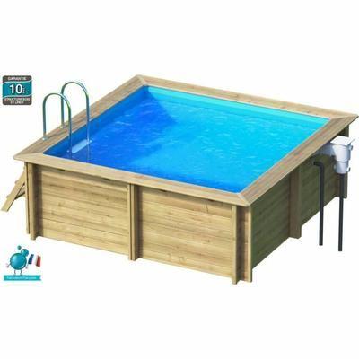 weva piscine bois carre 3x3 m hauteur 120 m - Piscine En Bois Semi Enterree Leroy Merlin