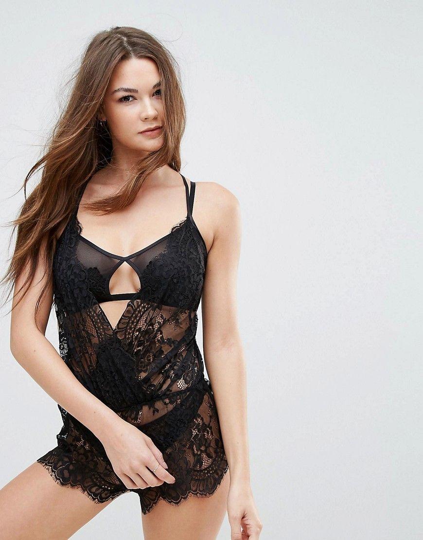 d99904c754b26 Boux Avenue Latisha Lace Teddy - Black