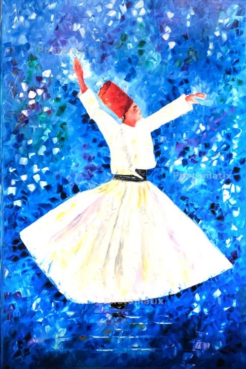 Sufi Dance Abstract Painting Peinture Aquarelle
