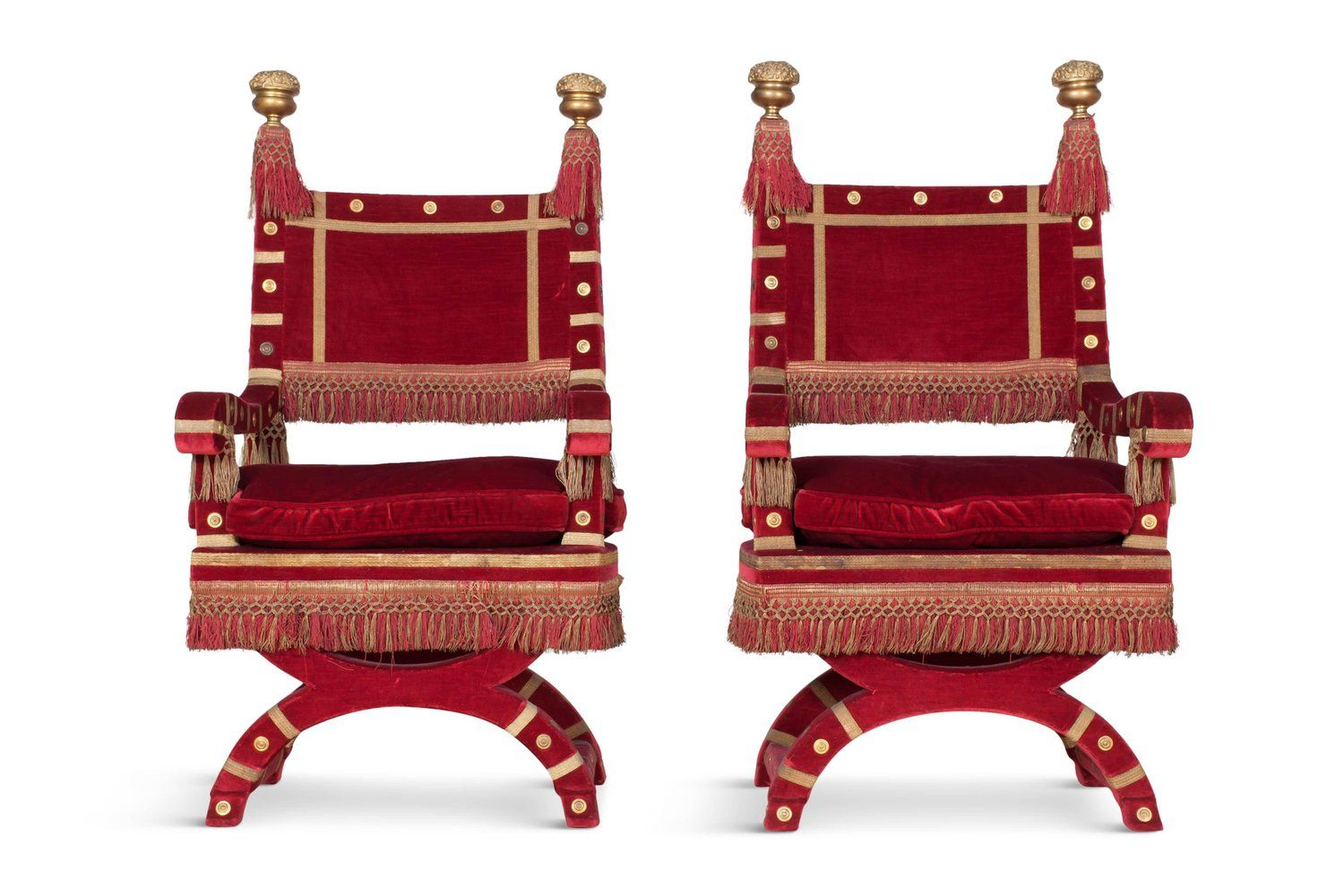 Eclectic red velvet italian throne chairs throne chair