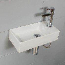 Meuble Beton Cire Ou Bois Forme Cube A Suspendre Au Mur Pour Petit Wc Lave Main Robinet Lave Main Lave Main Design