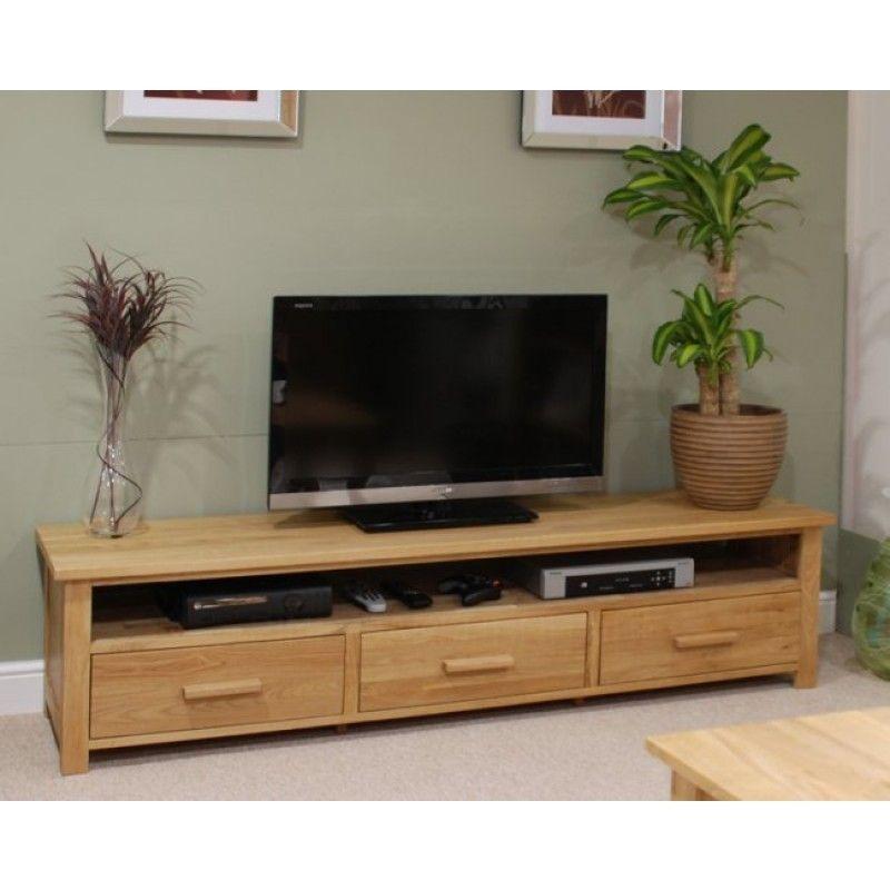 Opus Solid Oak Wide Plasma TV Unit   Oak furniture, Oak tv ... Plasma Unit Design