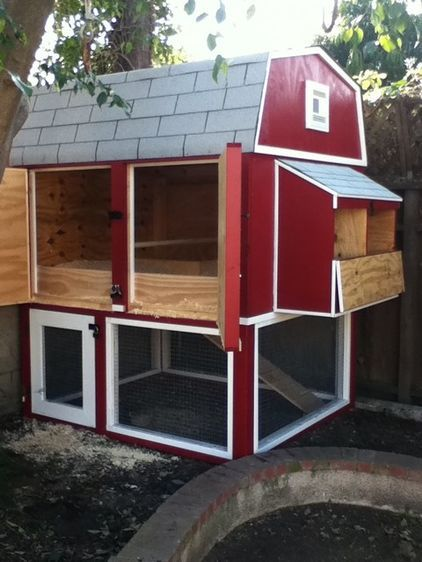 Henhouse With Two Large Doors That Swing Open Allowing For Cleaning At Waist Level Chicken Coop Designs Building A Chicken Coop Coop Design
