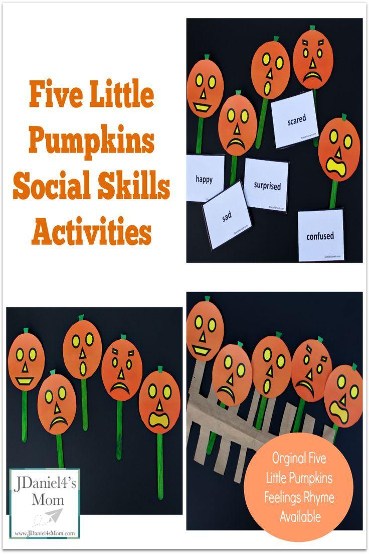 Five Little Pumpkins Social Skills Activities- A set of ...