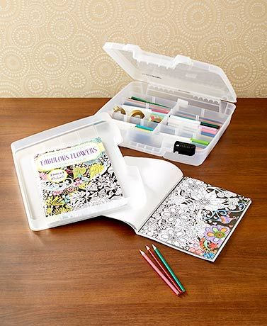 Artbin Coloring Book Supplies Storage Case Coloring Book Storage Coloring Books Stationery Craft