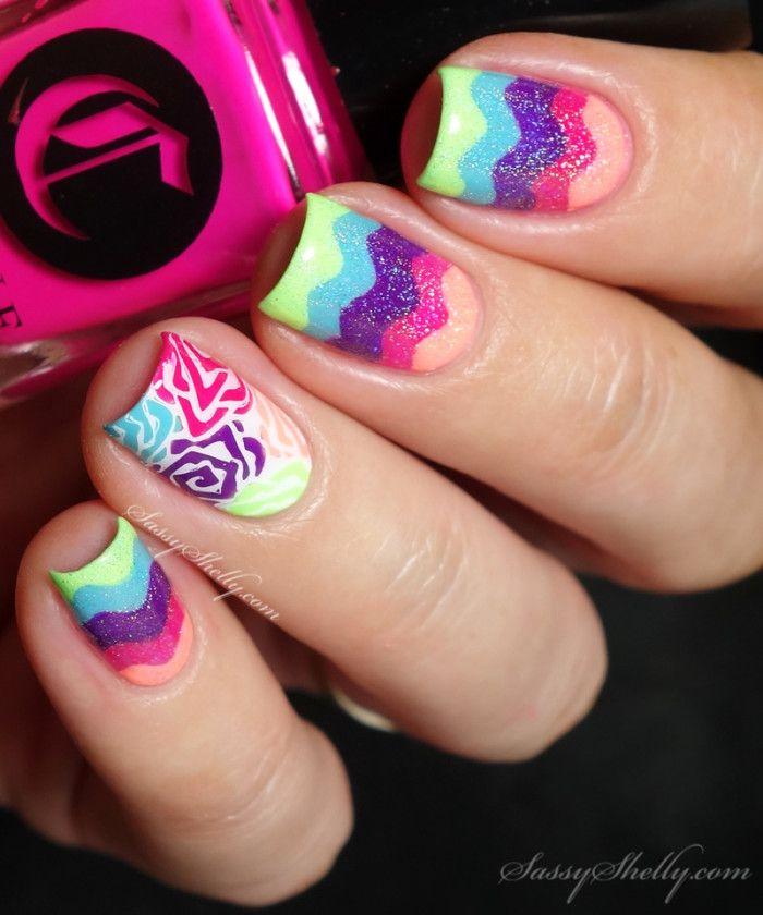 Rainbow Chevron Nail Art with Cirque Vice + a TUTORIAL | Rainbow ...