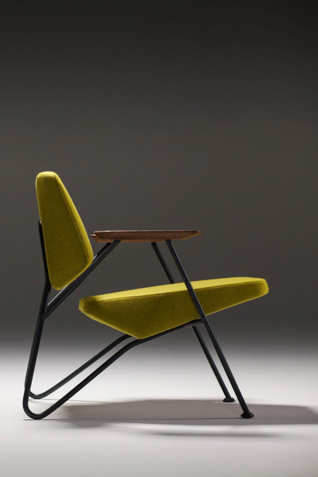 Polygon chair chartreuse