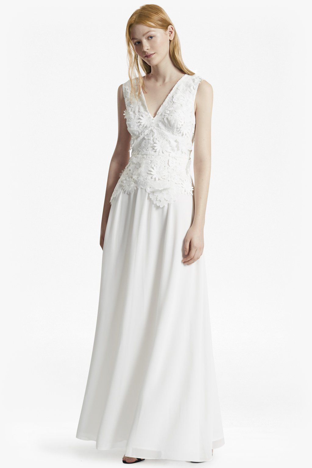 Manzoni 3D Floral Lace Maxi Dress | Bridal Dresses | French ...
