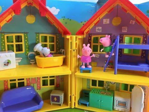 Peppa pig va a la piscina del parque acuatico de playmobil for Pepa en la piscina