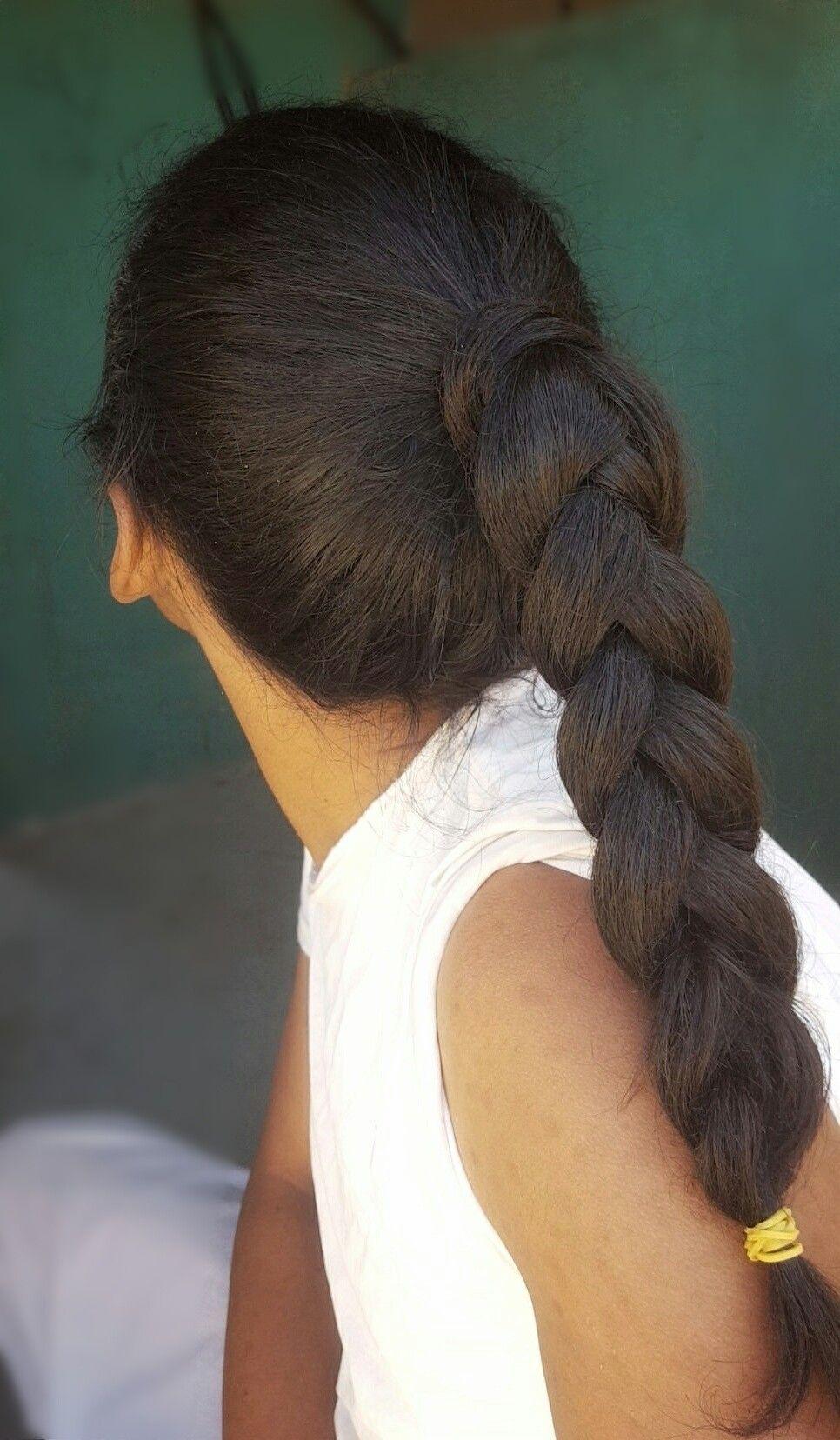 تسريحة الضفائر شعر مضفر جديلة شعر تسريحة ذيل الحصان المضفر Braided Hair Low Braids Braided Ponytail Hair Style St Long Braids Hair Styles Hair