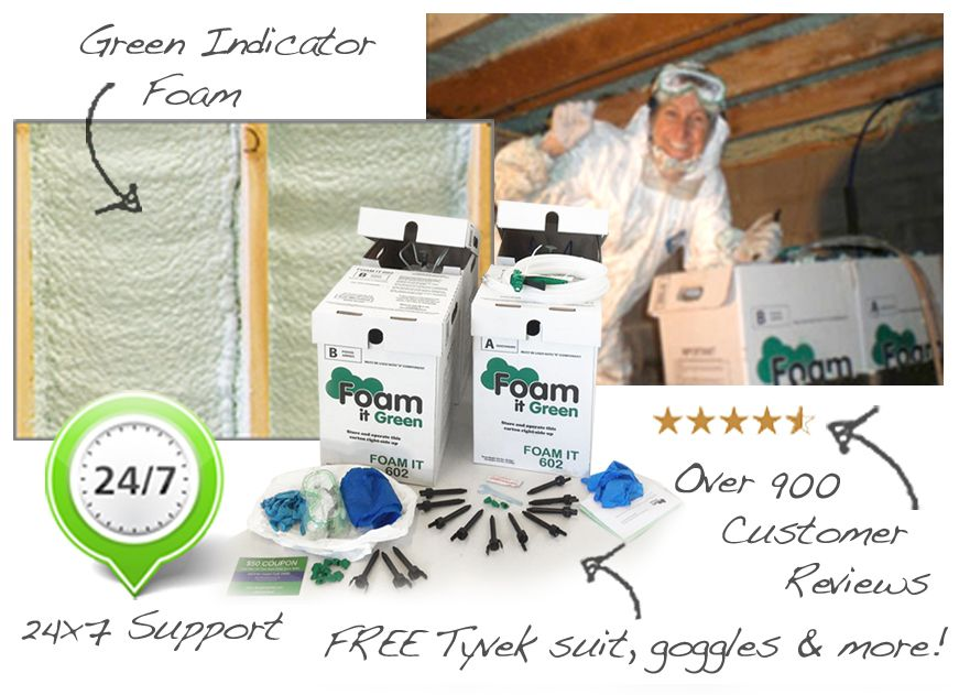 Foam it Green is the worlds most loved insulation with over 1000