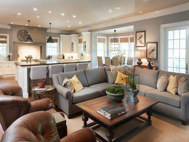 Perfekt Graue Farbe, Weiße Farben, Wohnzimmer Ideen, Wohnzimmer Inspiration,  Wohnräume, Grau Küchen, Offene Küchen, Benjamin Moore Farben, Küchen  Lackfarben
