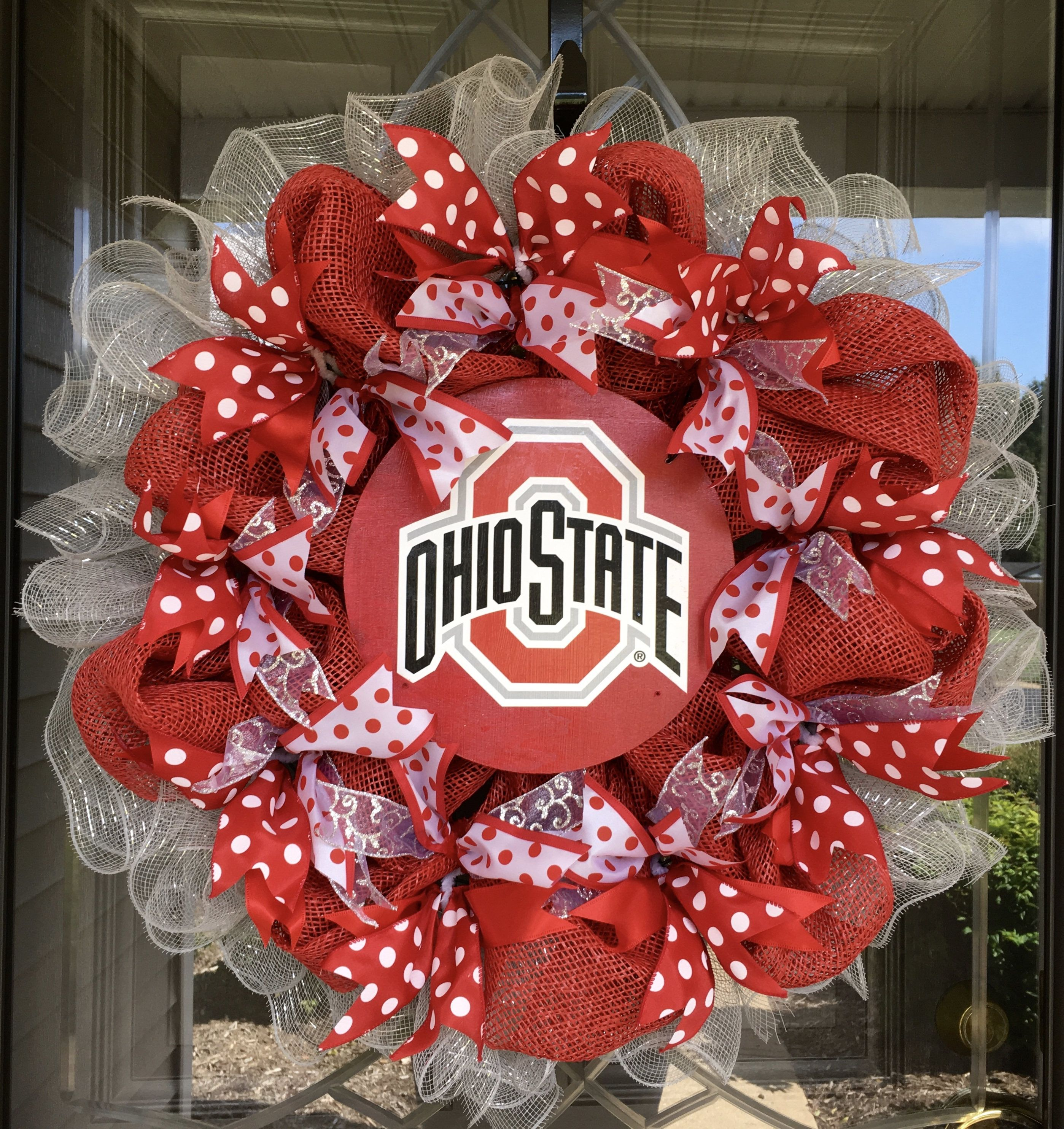 Pin by CraftElegance on CraftElegance | Ohio state wreath ...