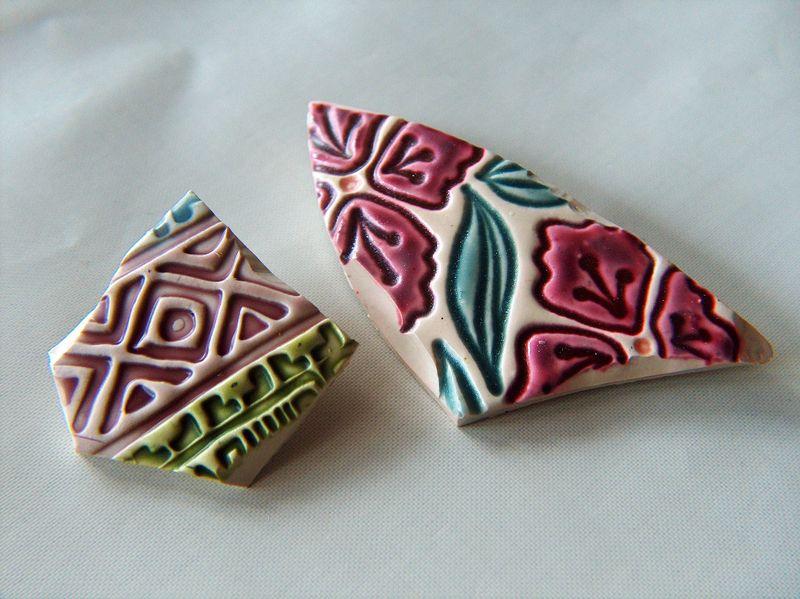 Pottery Shard Brooch