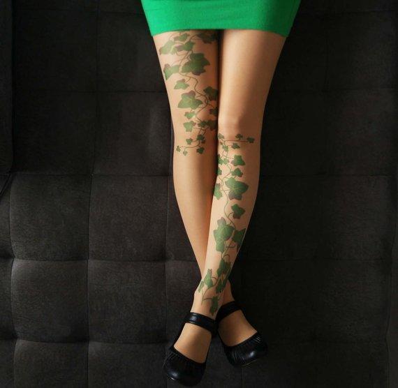 4c07ff5f4 Poison Ivy Tattoo Tights