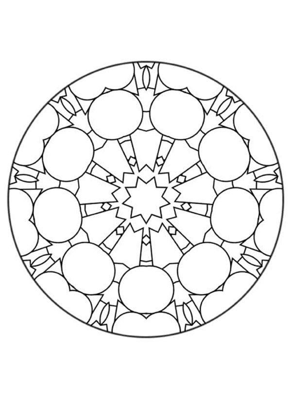Color Online Mandala Coloring Pages Mandala Coloring Mandala