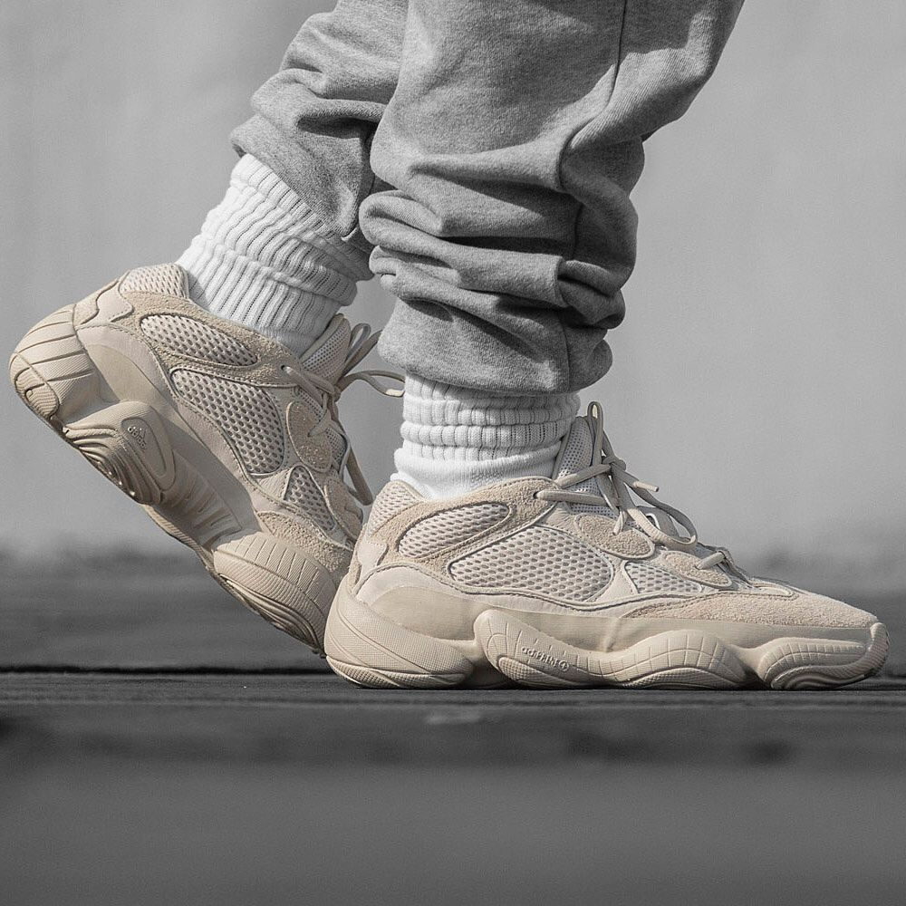"f5aa6df8400 YEEZY Desert Rat 500 ""Blush"" from  hbx.  popculture"