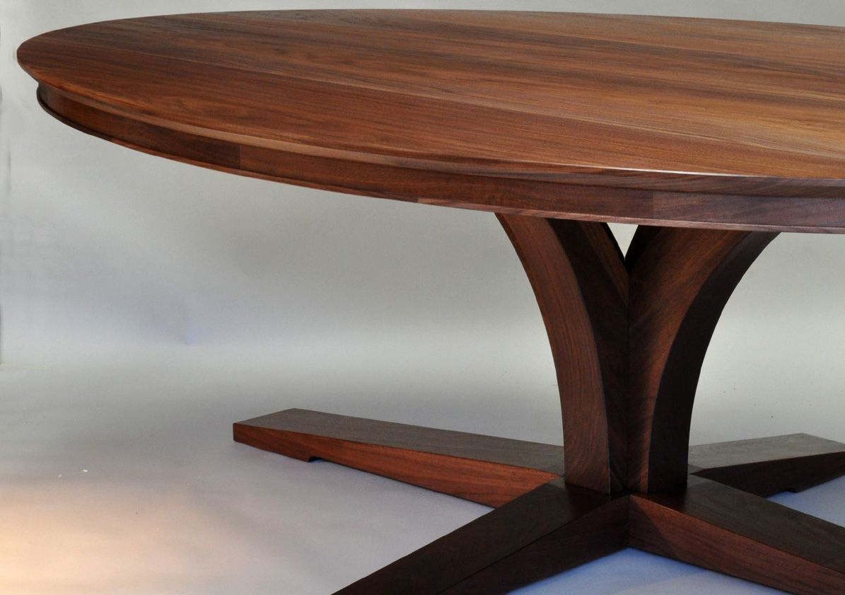 Nice Base Design Walnut Dining Table Tables Custom Furniture Kitchen