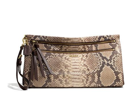 2b9381ea5885e COACH Madison Python Embossed Large Clutch | Handbag Fetish ...
