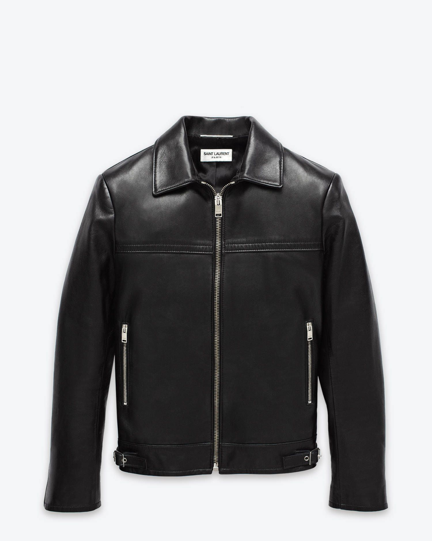 1b9212a6d Keith Café Racer Black Leather Jacket from Saint Laurent. | Fashion ...