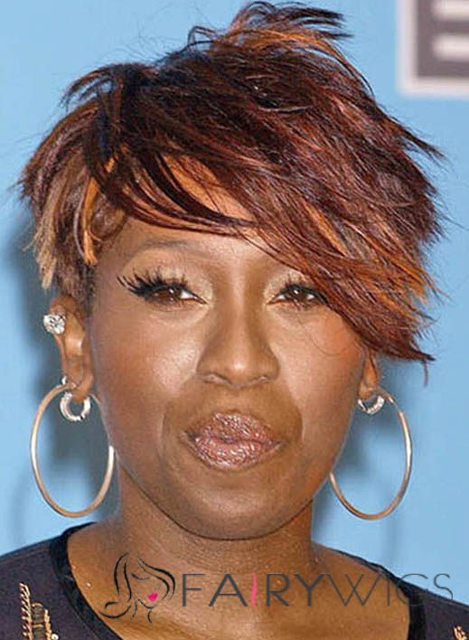 2015 Hairstyles For Women Flowing Missy Elliott Hairstyle Short Straight Full Lace Human Wigs