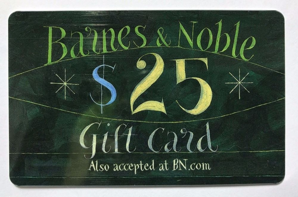 25 barnes and noble gift card free shipping