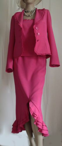 Gloria-Estelles-Pink-Formal-3-Pc-Skirt-Suit-Outfit-Wedding-Cruise-Eu40-UK10-12 www.stripeyflowers.co.uk