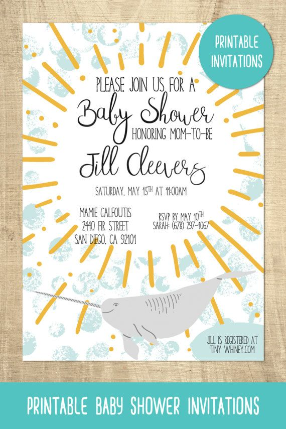 Narwhal baby shower invitation unicorn of the sea ocean baby narwhal baby shower invitation unicorn of the sea ocean baby shower filmwisefo