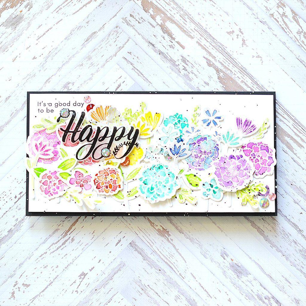 Word Series Happy Stamp Set Clear Stamp Sets Pinkfresh Studio