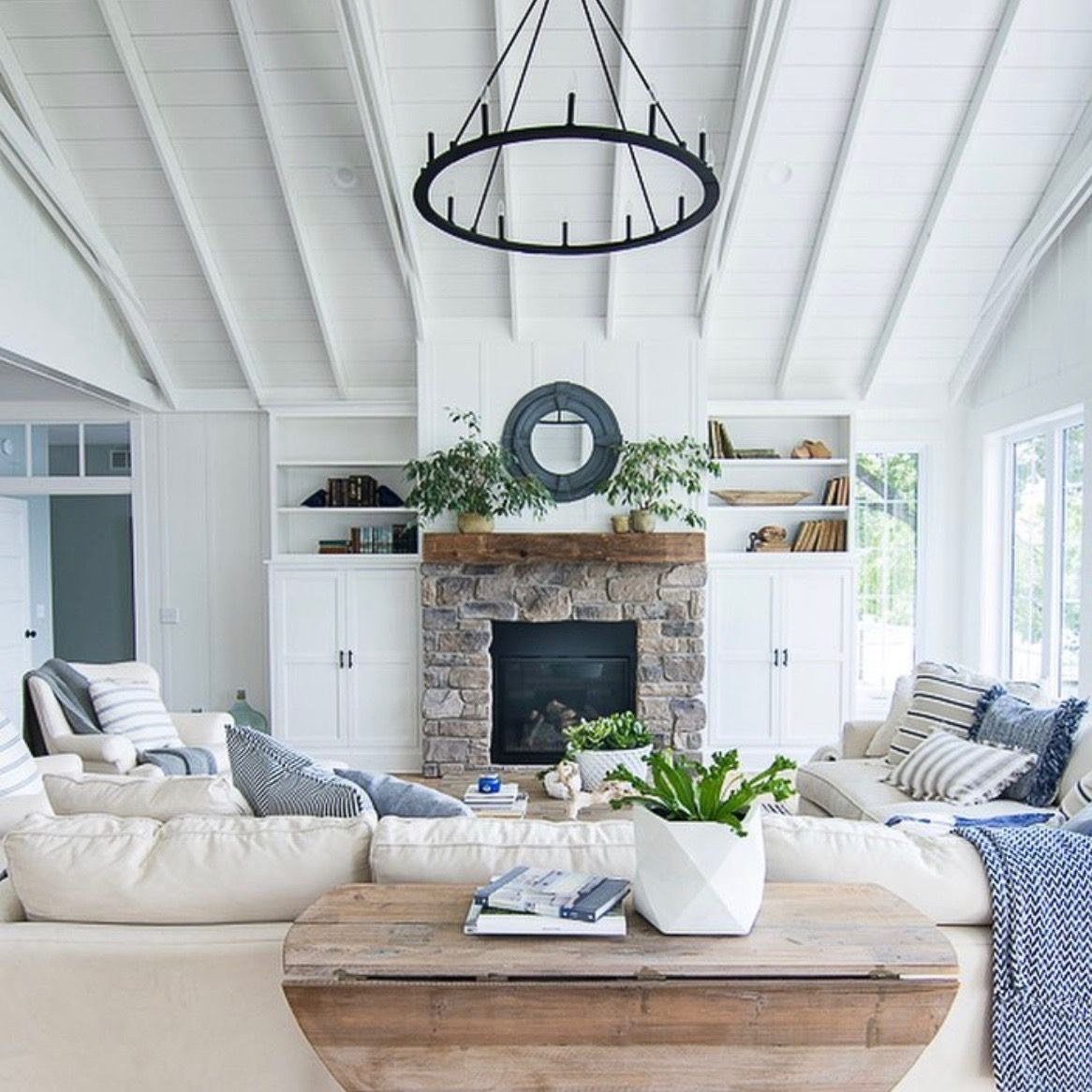 Lily Pad Cottage Instagram Cottage Fireplace Family Room Home